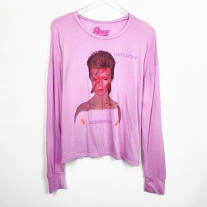Bowie Graphic Long Sleeve Tee in Orchid